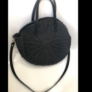 Zara Rattan circle bag